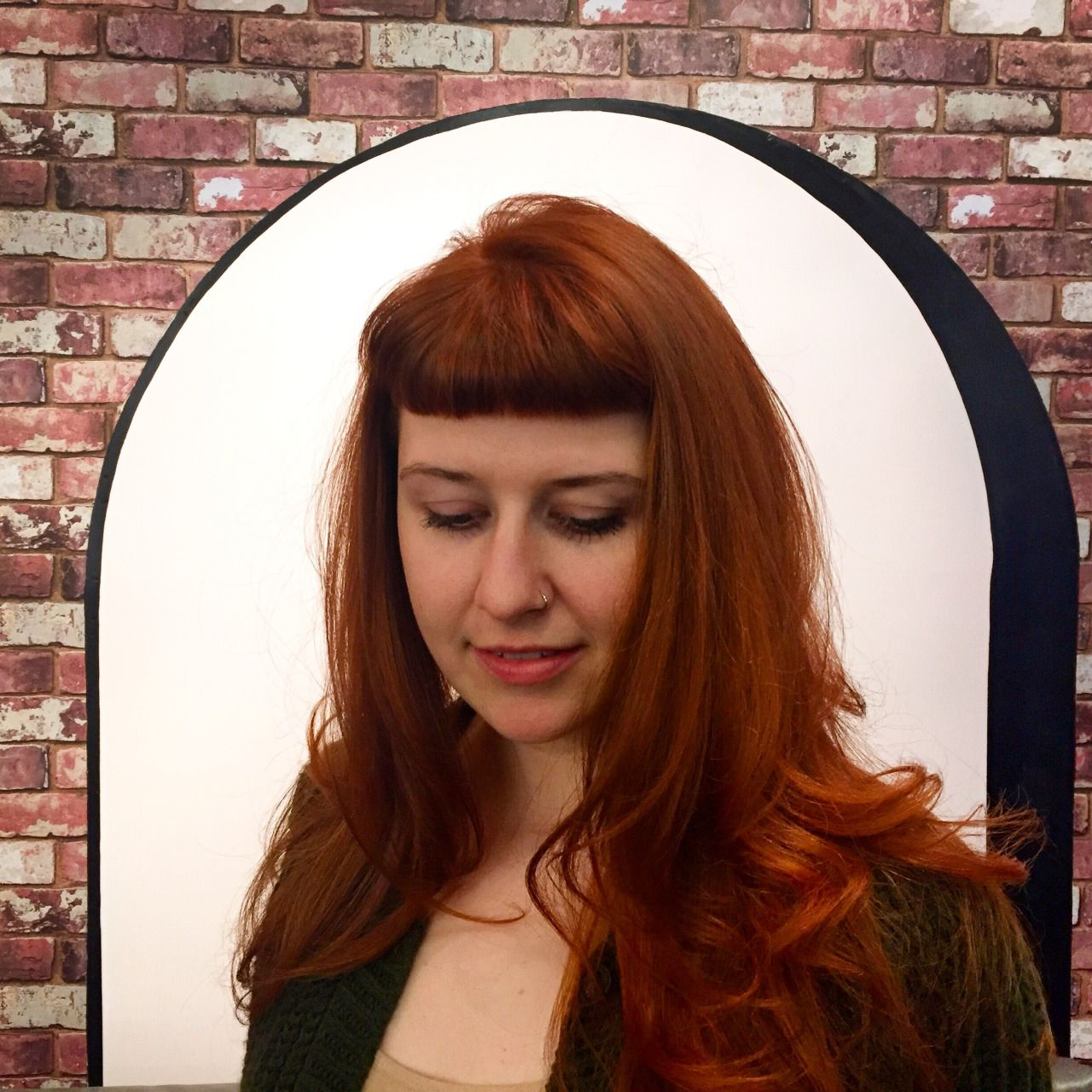 red hair color with bangs salon nyc 10023   Red hair   Pinterest ...