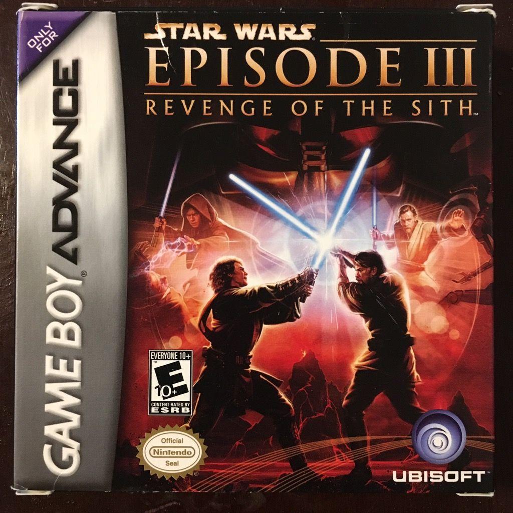 Episode Iii Revenge Of The Sith Gba Star Wars Episodes Star Wars Games Star War Episode 3