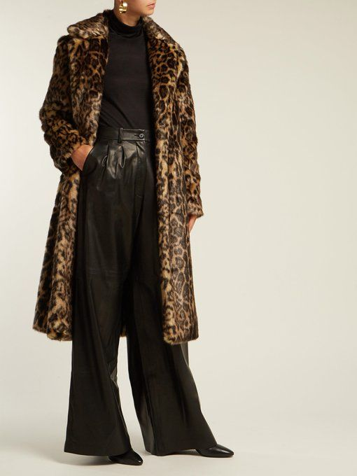 f653e786b79d Nili Lotan Marvin leopard-print faux-fur coat | dressed to impress