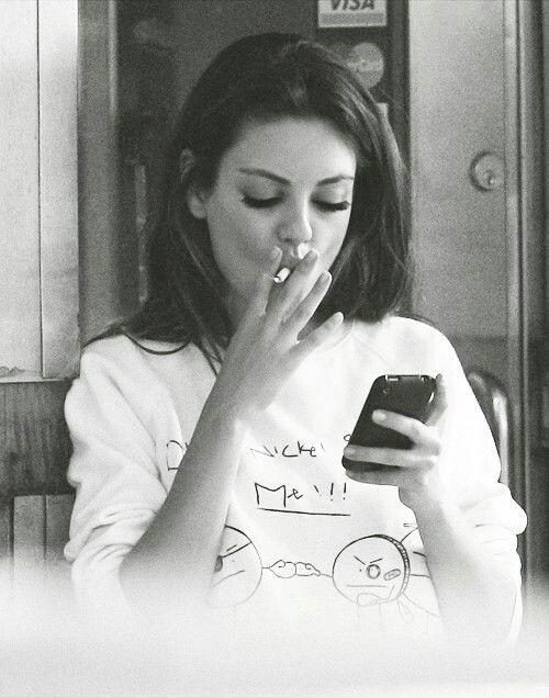 Smoking mila kunis Celebrities Who