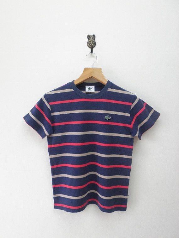 Retroflexclothing By Stripes Kids T Chemise Shirt Lacoste Vintage UvnaZC