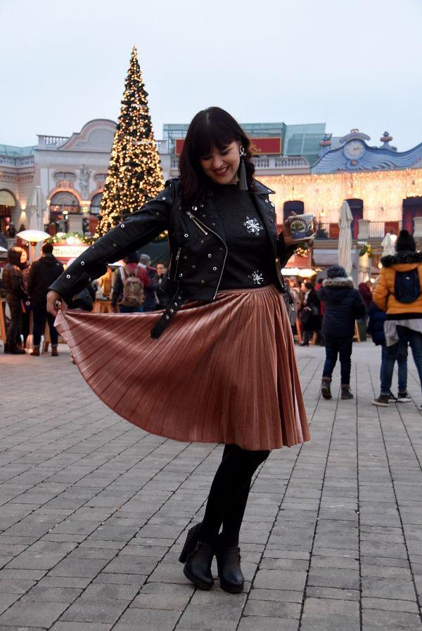 1 teil, 3 outfits: mit lederjacke zur weihnachtsfeier