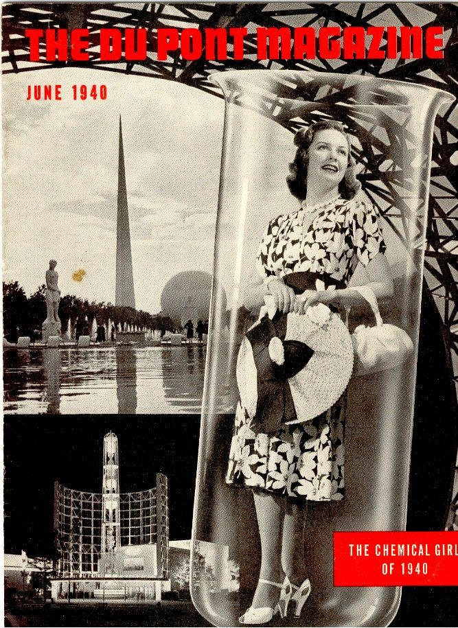 Billedresultat for The Chemical Girl, front cover of the 'DuPont Magazine', June 1940