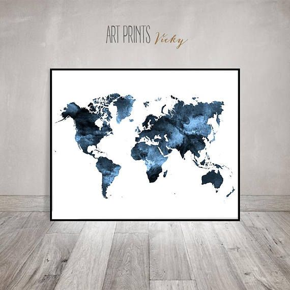 World map poster large world map travel map world map wall art world map poster large world map travel map world map wall art gumiabroncs Images