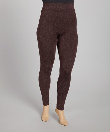 Take a look at this Heather Brown Leggings by Just One on #zulily today!