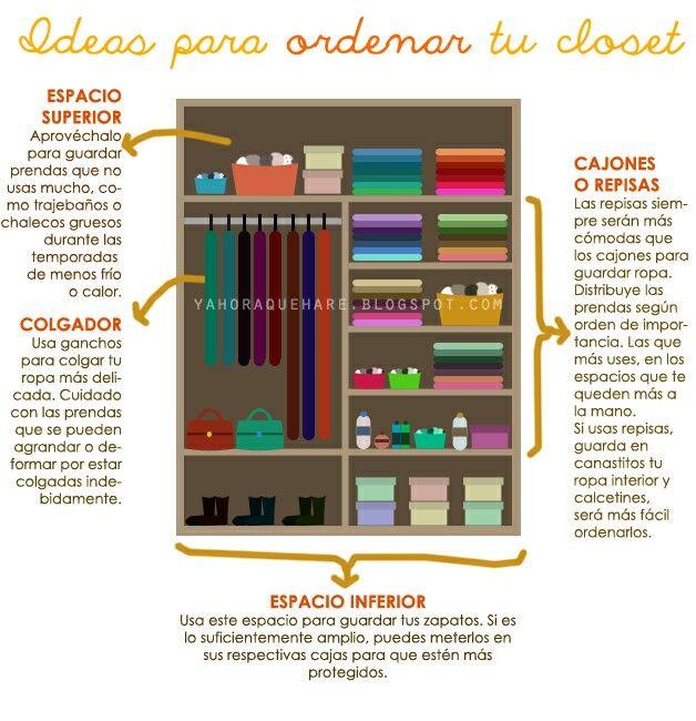 Como ordenar el closet closet cl set organizar closet y armario de ropa - Como ordenar tu armario ...