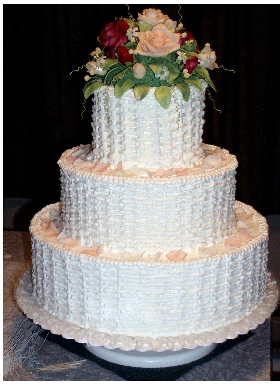 Basket Weave Wedding Cake - It is a 14\