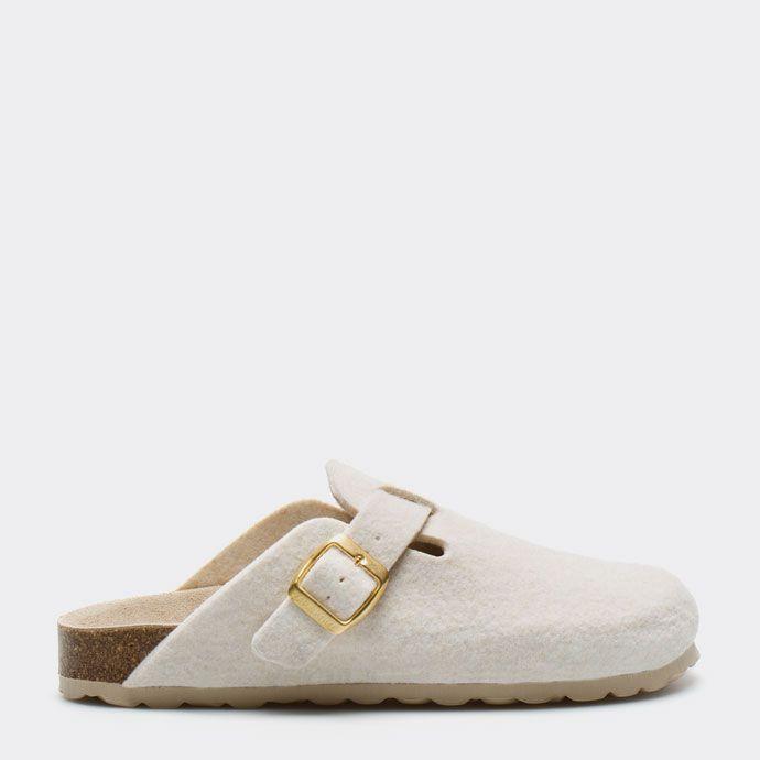 Footwear Woman Homewear Mule Zara Slippers Felt Buckled Clog WfIXYq