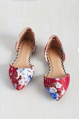 These pointy floral flats for $34.99. | 38 Cheap Pairs Of Shoes That Look Like A Million Bucks