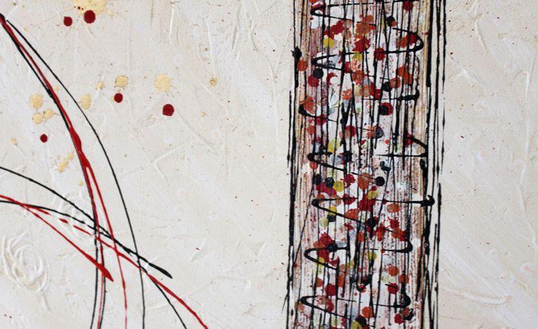 Quadri astratti moderni dipinti a mano su tela | basic | Quadri ...