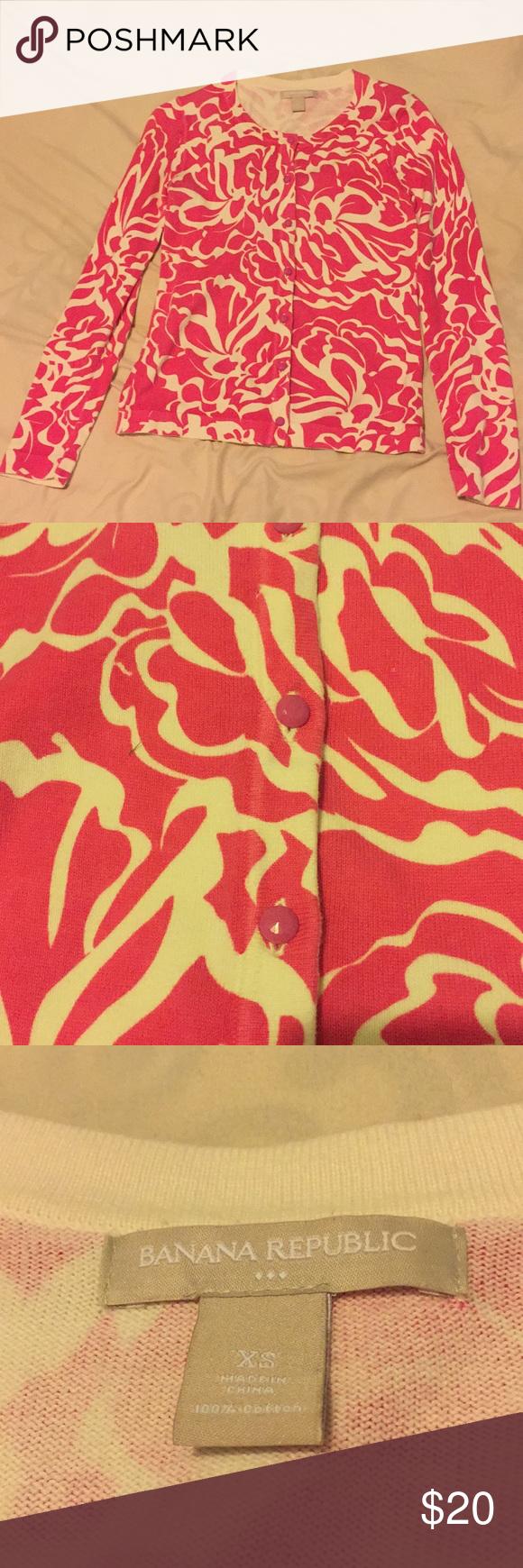 Banana republic pink button down sweater size xs in my posh
