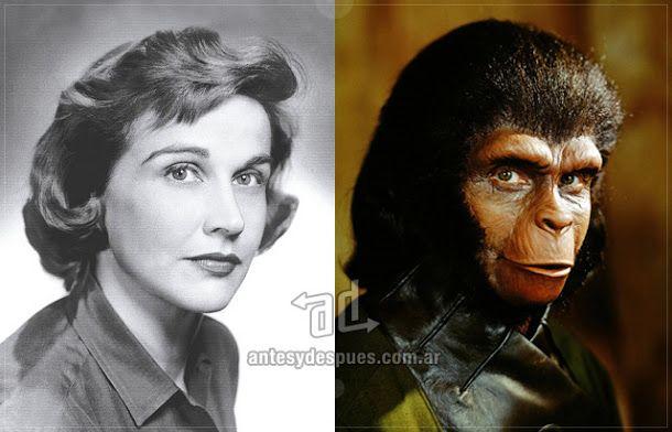 Kim Hunter Como La Dra Kira En El Planeta De Los Simios Planet Of The Apes En 1968 1970 1971 Planet Of The Apes Classic Horror Movies Movies