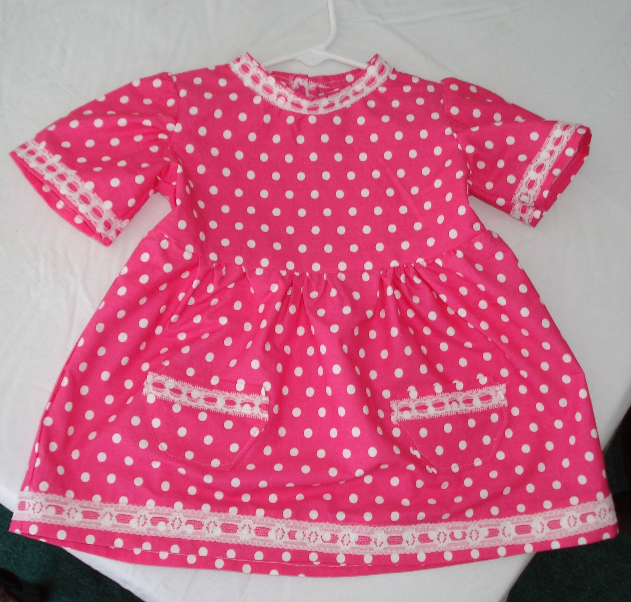 12 months pink polkadots dress for 1 year old with images