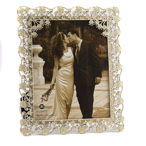 Burnes Isabella Champagne Wedding 8x10 Picture Frames 19 99