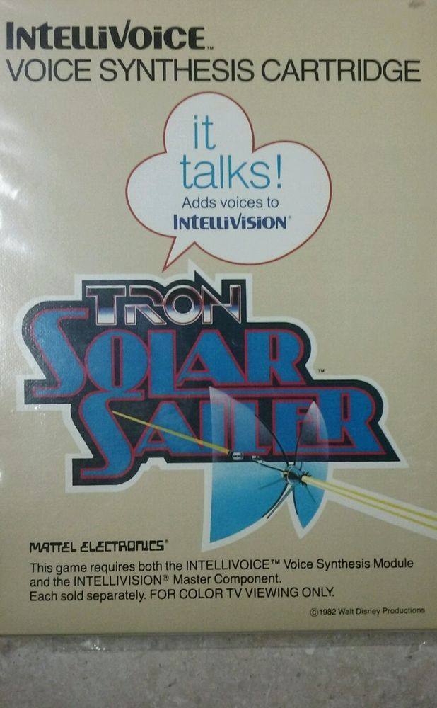 Tron Solar Sailer Intellivision Mattel Electronics Complete Great Condition Mattel Tron Game System