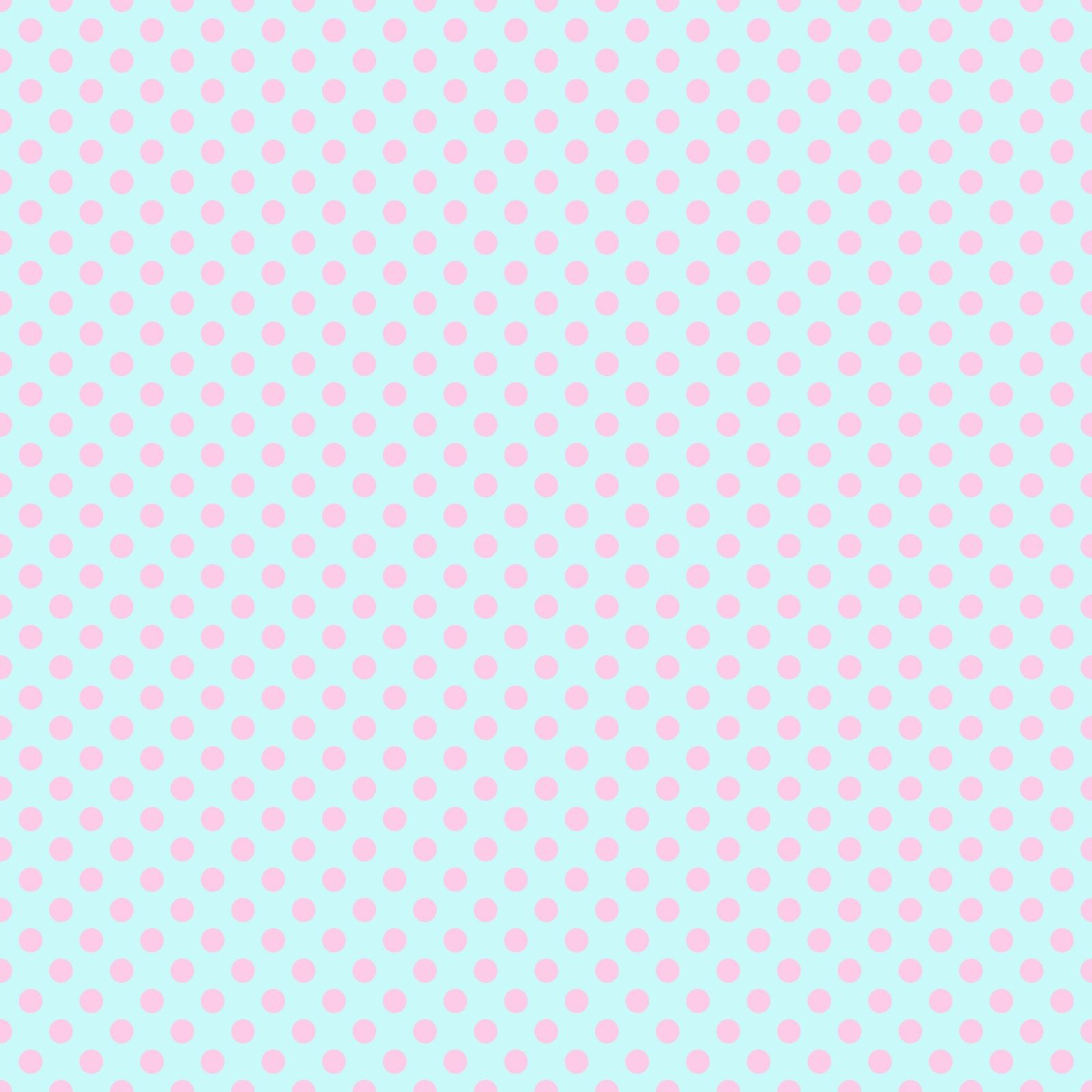 Pink Polka Dots On Aqua From Free Vintage Digital Stamps