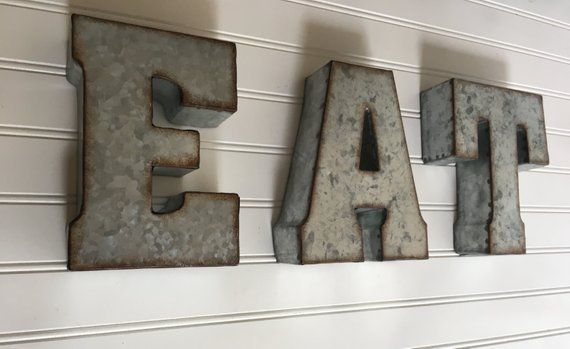 Eat Sign Eat Metal Letters Large Metal Letters Wall Letters