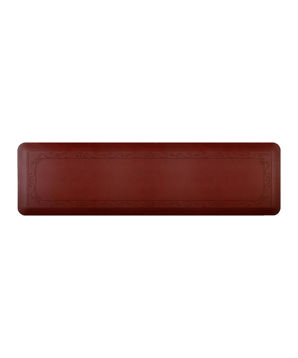 Loving this Burgundy Large Fleur-de-Lys Comfort Mat on #zulily! #zulilyfinds
