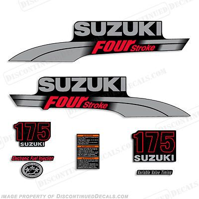 Suzuki Hp FourStroke Outboard Engine Decal Kit DF Marine - Decals for boat carpet