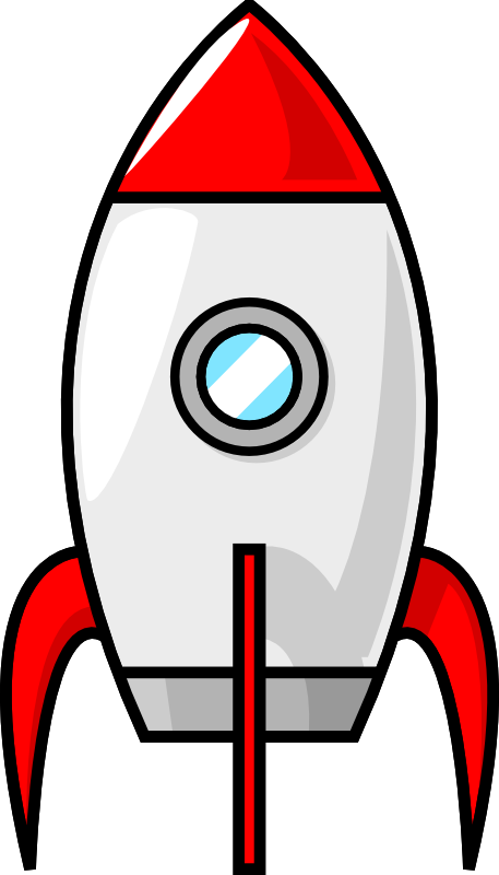 a cartoon moon rocket by purzen a classic red and white rocket to rh pinterest com spaceship clipart free spaceship clipart black and white