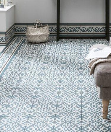 Berkeley Slate Blue Border Tile