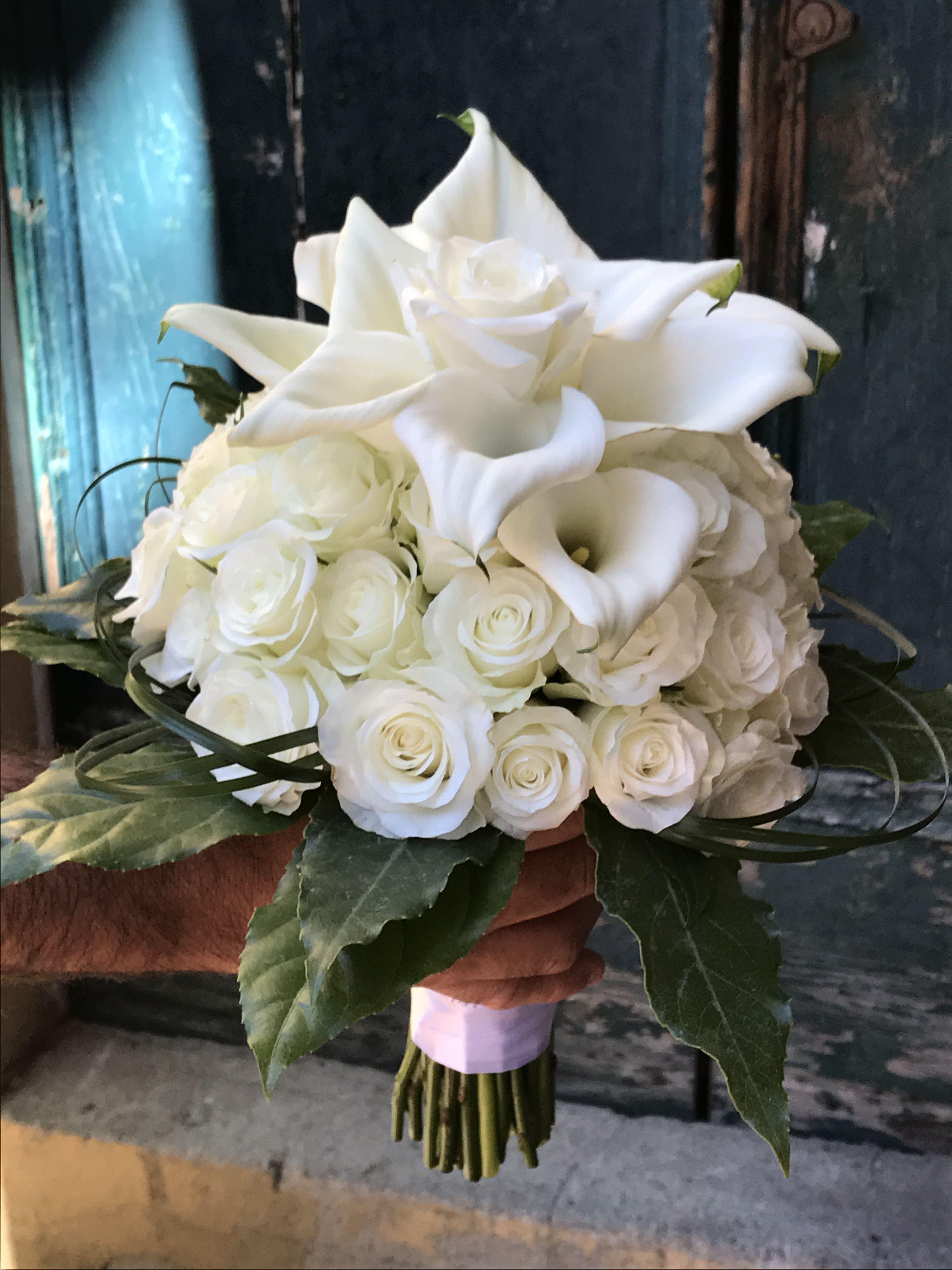 Bouquet Sposa Rose E Calle.Bouquet Rose E Calle Bouquet Da Sposa Bouquet Nozze