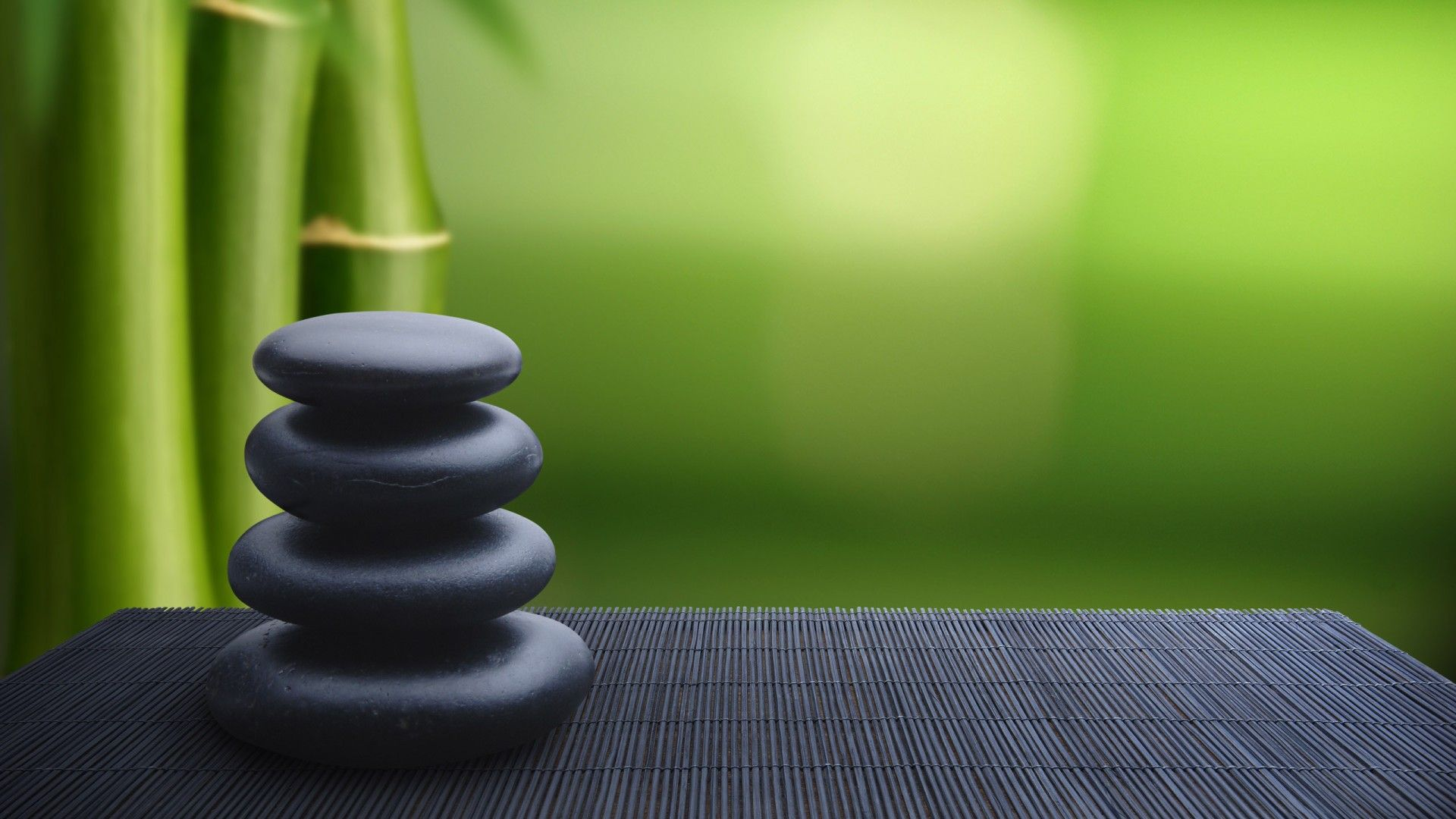 Japan Bamboo Stones Zen 1920X1080 Wallpaper