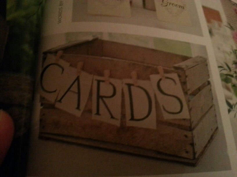 Old crate for wedding cards