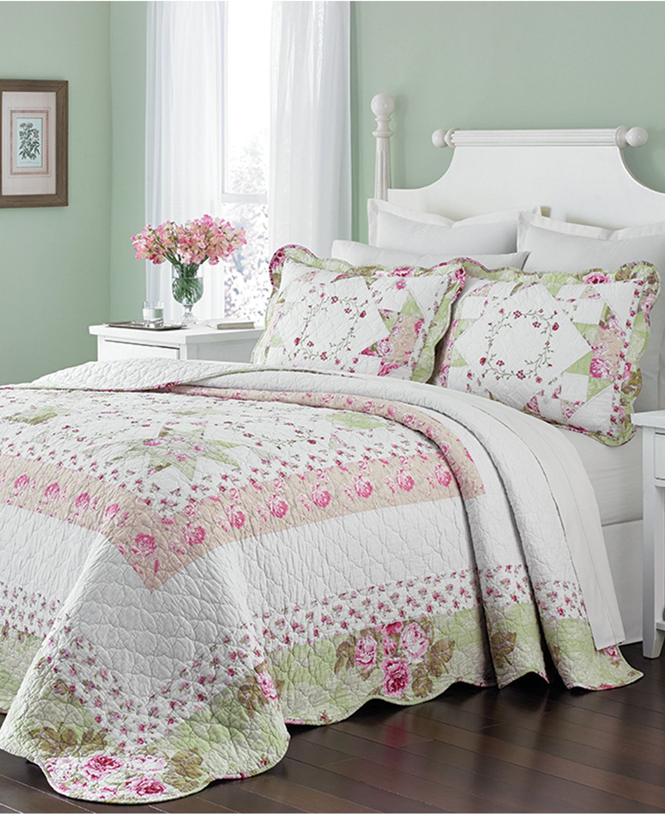 Martha Stewart Collection Emmeline Bedspreads Only At Macy S Quilts Bedspreads Bed Bath Macy S Bed Spreads Shabby Chic Bed Linen Queen Bedspread