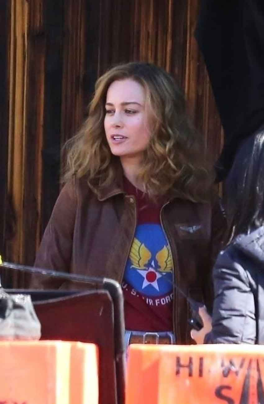 Check Out The Most Stylish Attire This Jacket Remarkable Quality Is That It Is Made Up Of Genuine Cowh Brie Larson Captain Marvel Captain Marvel Carol Danvers [ 1300 x 850 Pixel ]