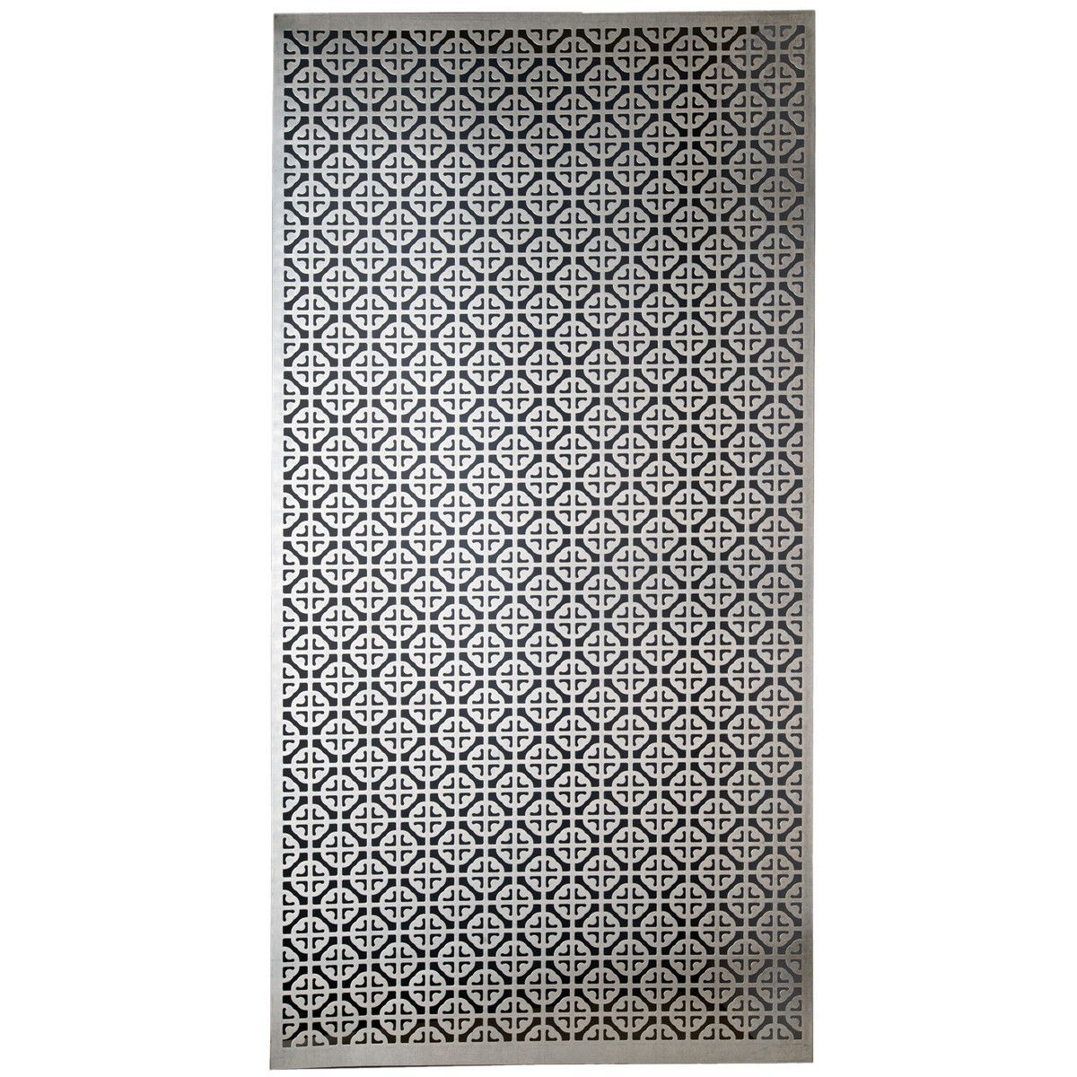 Aluminum Metal Sheet 12 X24 Mosaic Home Improvement Silver Color Perforated Metal