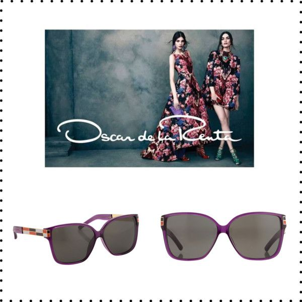 """""""Purple Oscar de la Renta"""" by sunglasscurator on Polyvore"""