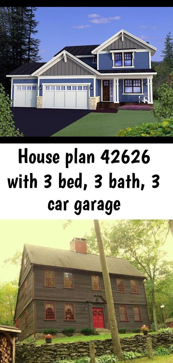 House Plan 42626  Plan with 2326 Sq Ft 3 Bedrooms 3 Bathrooms 3 Car Garage nice 52 Affordable Old House Ideas Look Interesting For Your Home Small House Plan with afforda...
