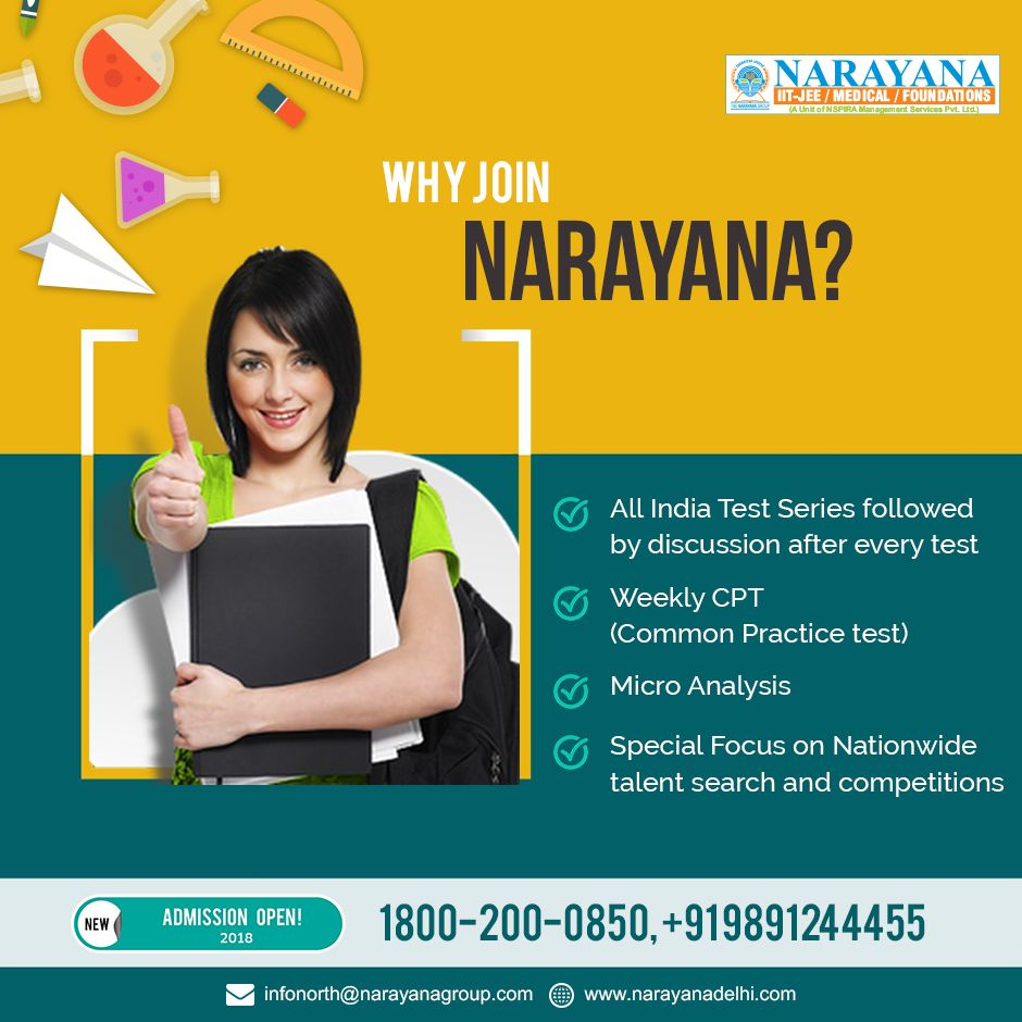 Narayana Has A Very Virtuous Background In Schooling Along With Preparing Students For Education Poster Design Social Media Design Inspiration Education Poster