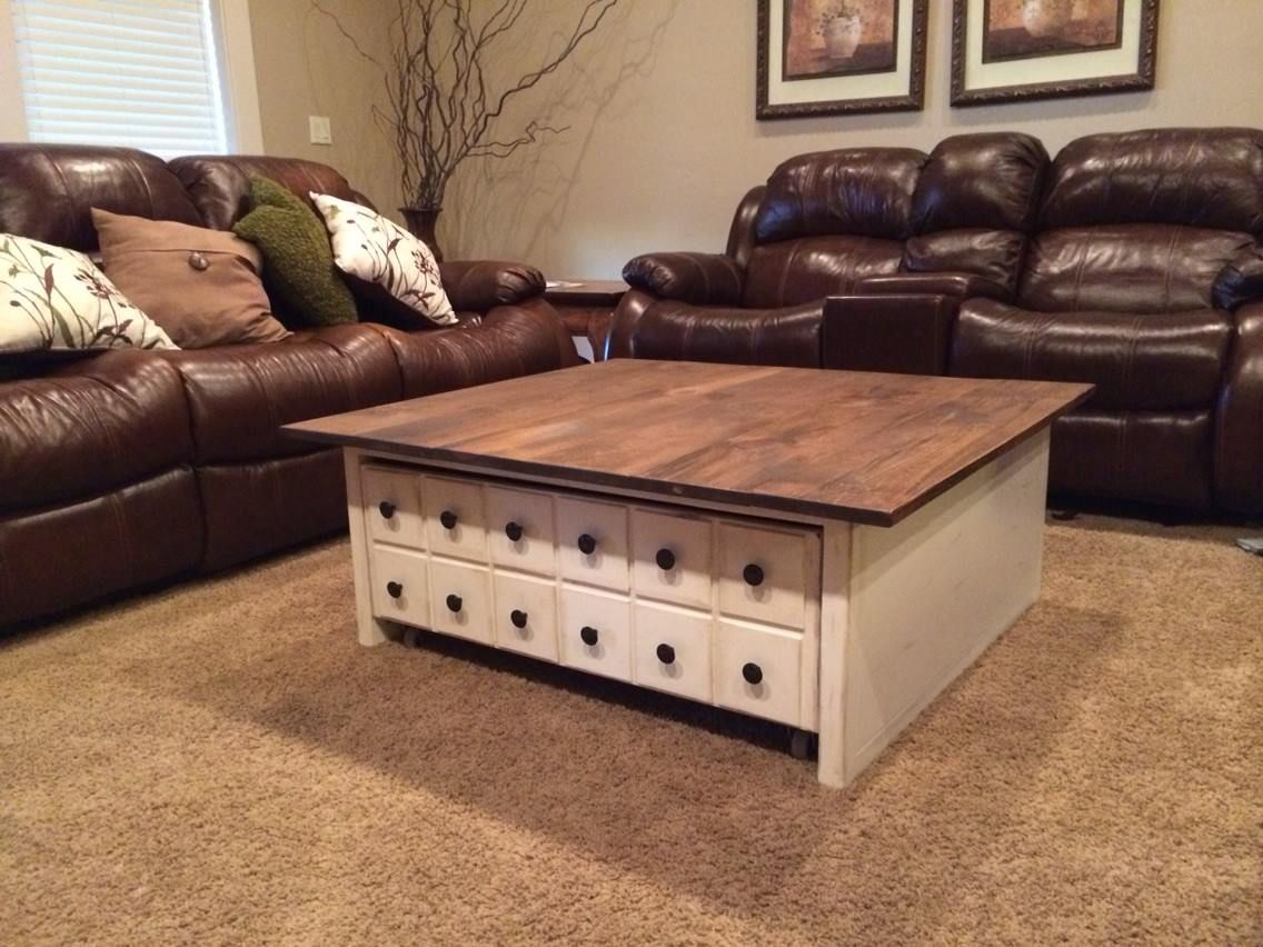 Square Apothecary Coffee Table With Toy Box Rrundle Table Furniture Plans Coffee Table Furniture Plans [ 852 x 1136 Pixel ]