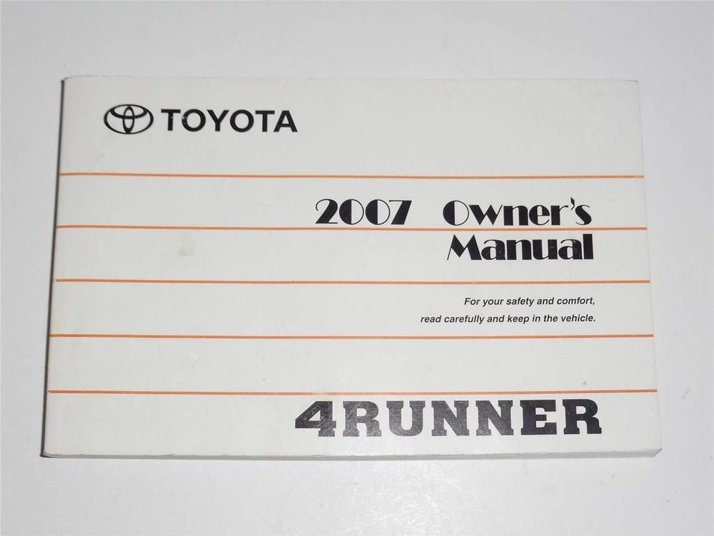 2007 toyota 4runner owners manual book guide owners manuals rh pinterest com 1994 Toyota 4Runner 1992 toyota 4runner owners manual