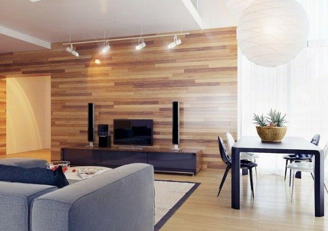 Säulenlautsprecher Auf Einem Holz Lowboard Mit Schwarzen Fronten ... Wohnzimmer Ideen Holz