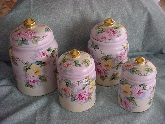 Handpainted Canister Set