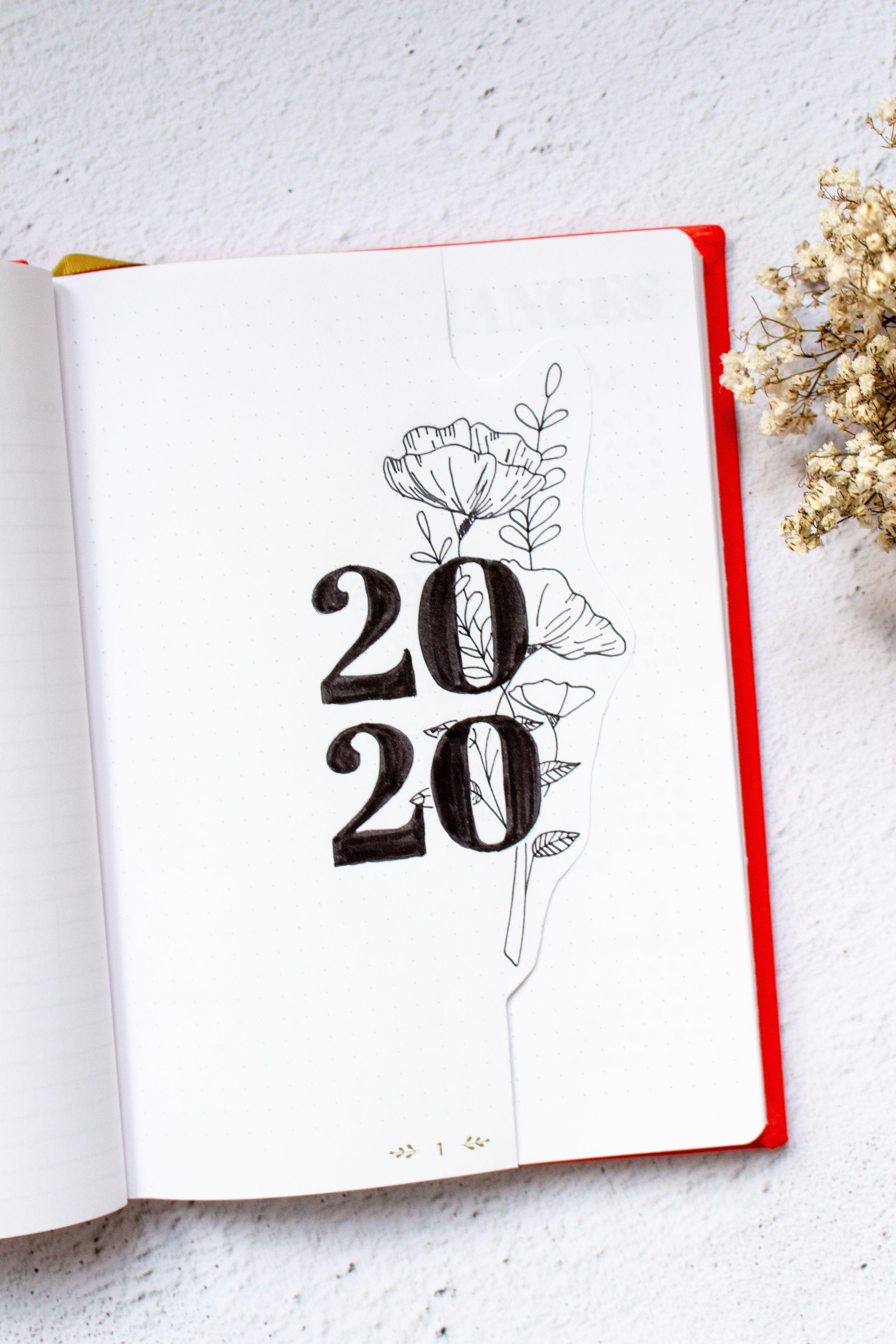 Découvrez la mise en page de mon Bullet Journal 2020 !