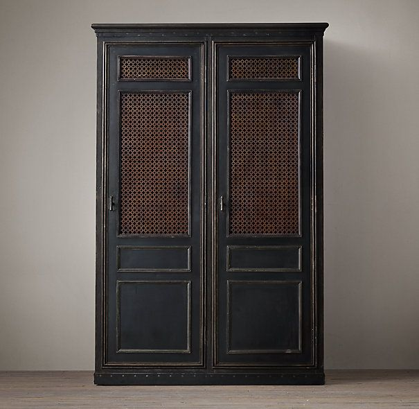 1900s French Metal Bank Double Entry Locker: Restoration hardware