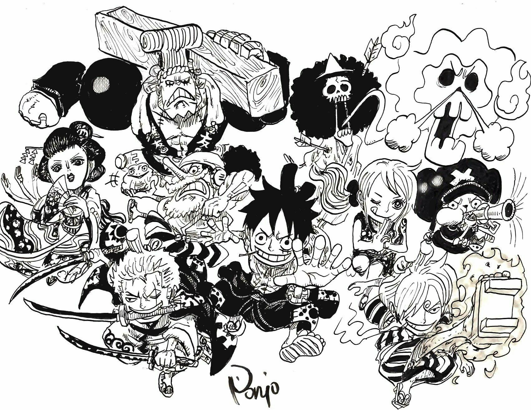 Straw Hat Pirates Wano Kuni Chibi One Piece Comic One Piece Manga One Piece Luffy
