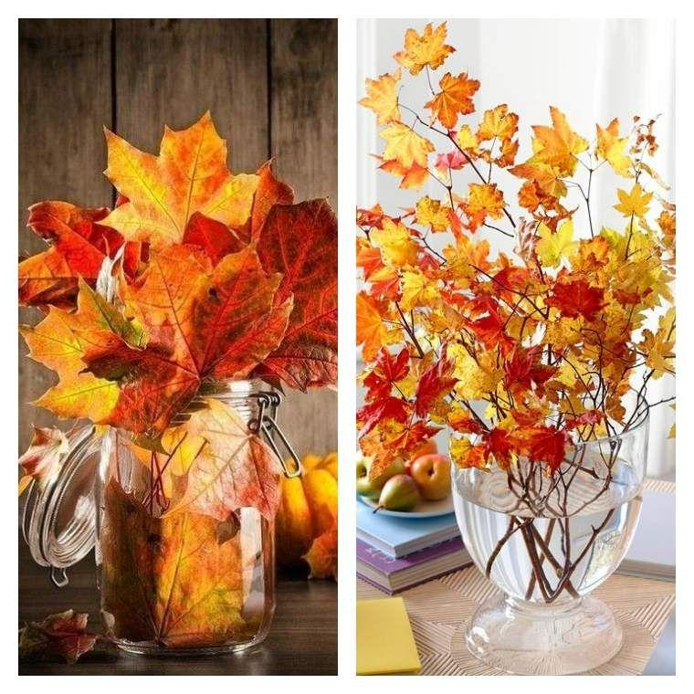 Décoration pas cher avec des feuilles d\'automne   Fall decor ...
