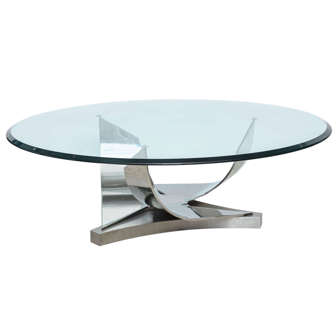 Ron Seff Polished Chrome And Stainless Steel Glass Top Low Table Glass Top Polished Chrome Glass Coffee Tables Living Room [ 1280 x 1280 Pixel ]