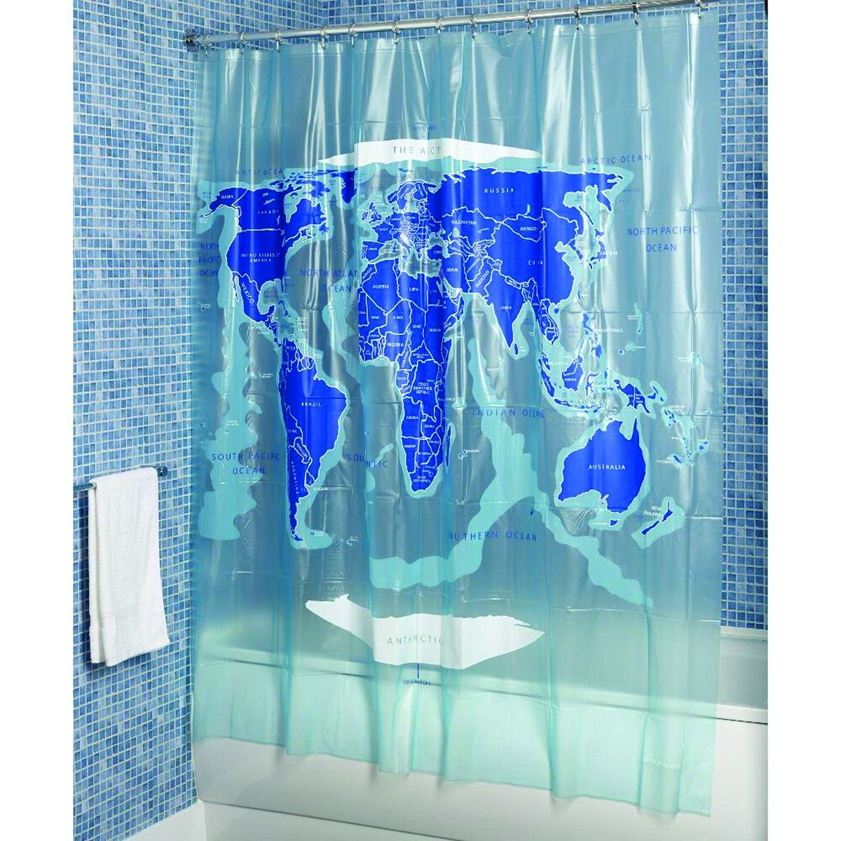 Croydex ae580815 world map shower curtain home pinterest croydex ae580815 world map shower curtain gumiabroncs Gallery