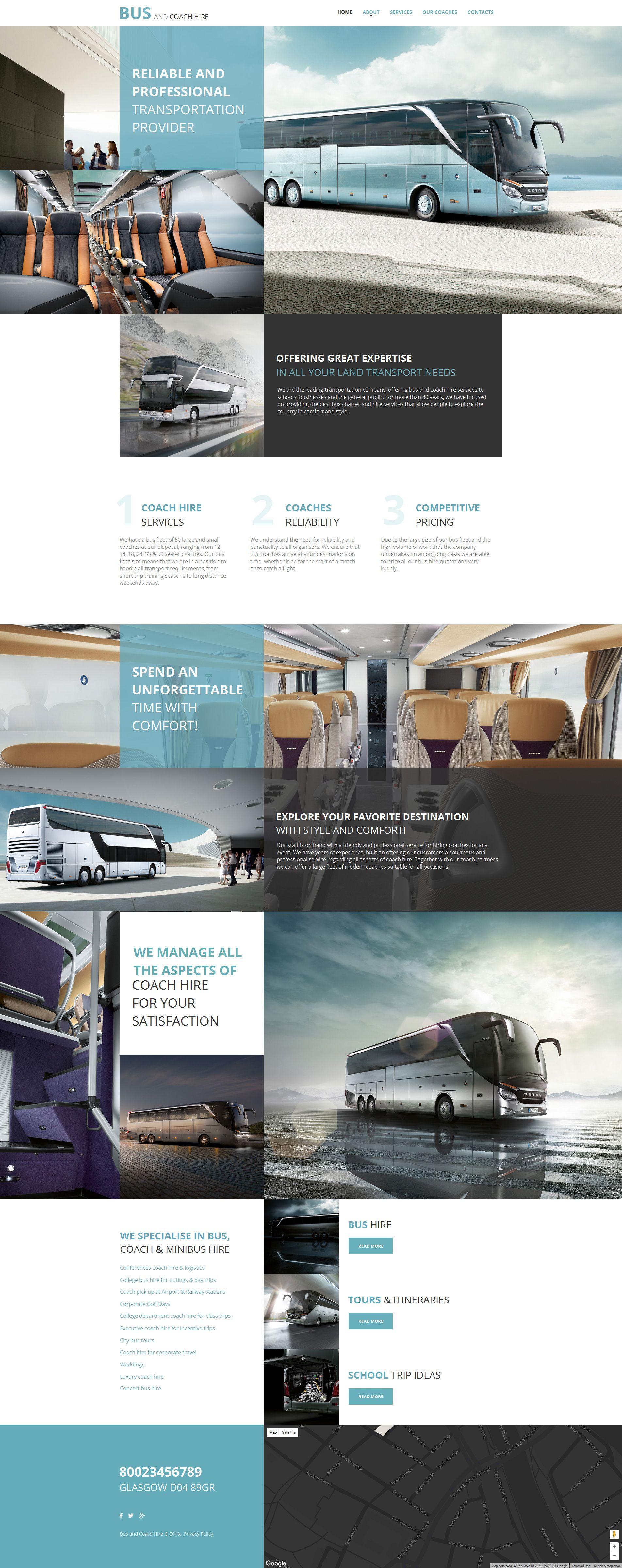 Transportation Moto CMS HTML Template | Transportation, Website ...