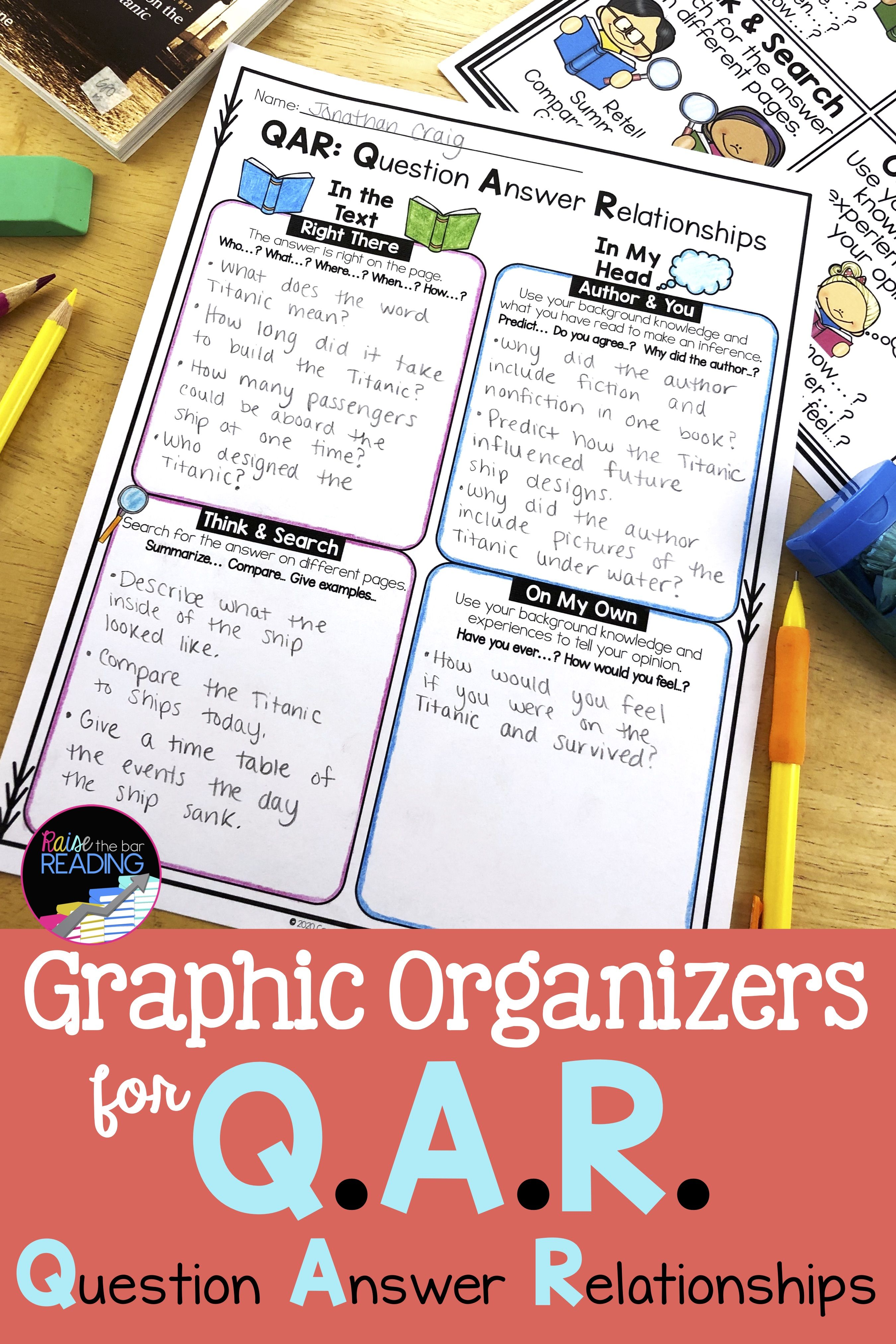 Asking Questions Graphic Organizers In