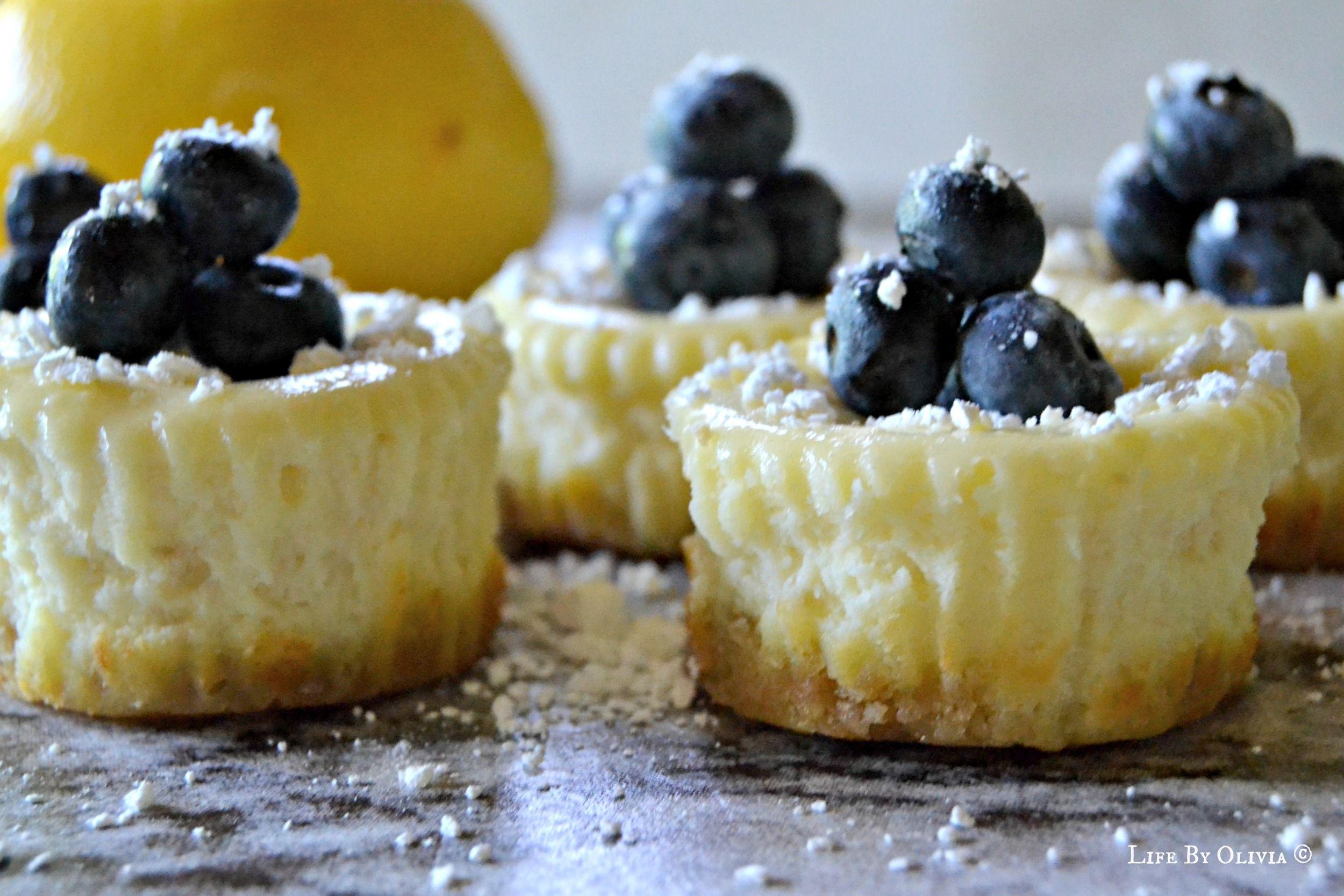 Mini Lemon Blueberry Cheesecakes #lemonblueberrycheesecake