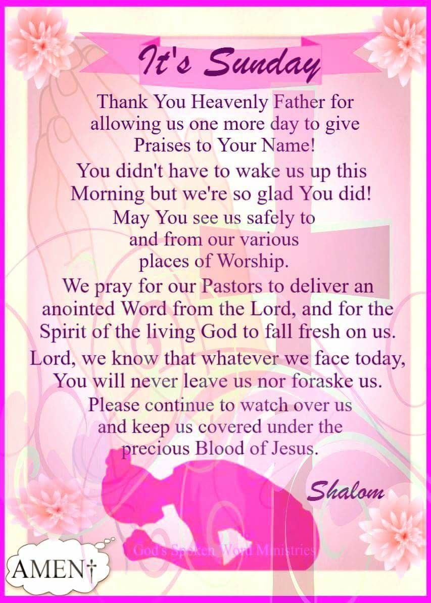 Sunday Blessings! Sunday prayer, Prayer for today, Prayers
