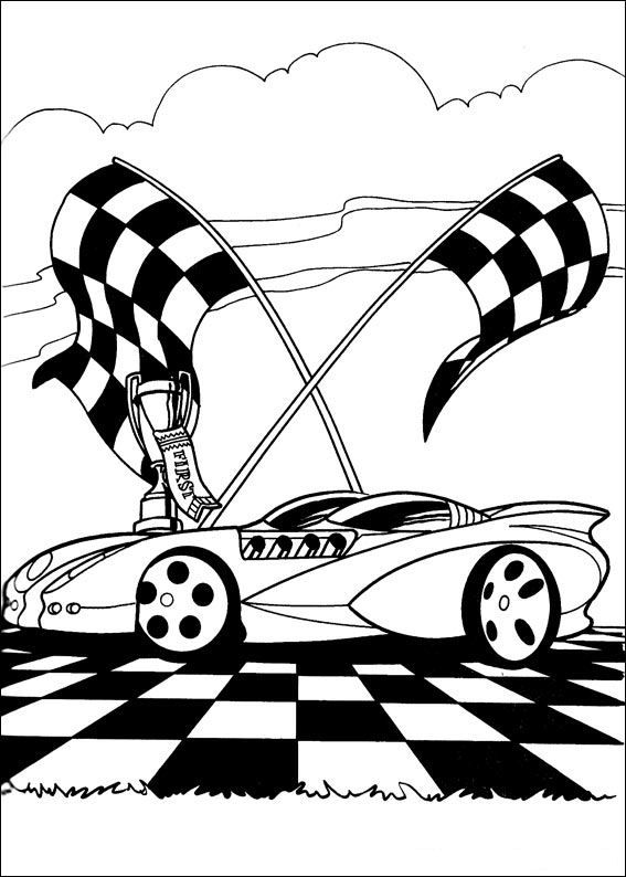 Dibujos Para Colorear De Autos Hot Wheels