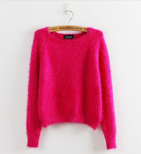 Cc hot-selling thermal mohair close-fitting ٩(^‿^)۶ comfortable candy color sweaterCc hot-selling thermal mohair close-fitting comfortable candy color sweater http://wappgame.com